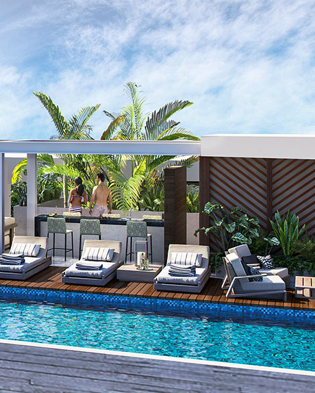 rooftop-bahay-departamentos en venta en playa del carmen